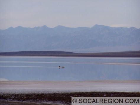 These boaters are just south of Badwater in March 2005.