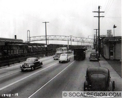 1948 view of San Fernando Road near Granada St looking north.