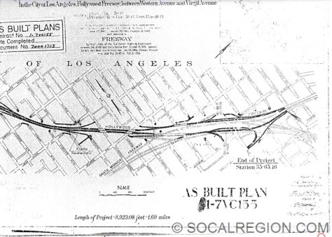1950 proposal for the interchange. This is the interchange the freeway was built for, or at least the closest proposal. Note the lack of a proposed Glendale Freeway and its connectors.