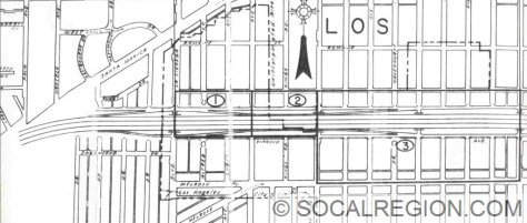 Section from Santa Monica Blvd to Fairfax Blvd.