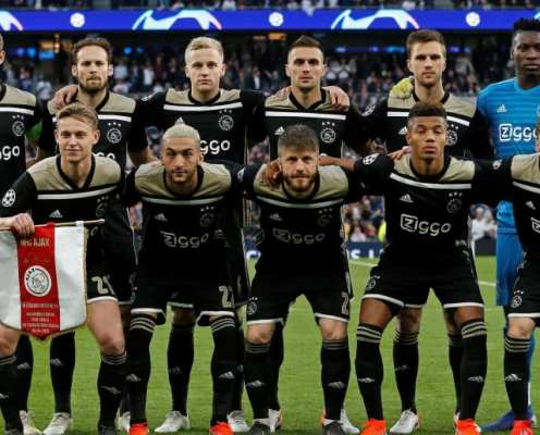 Champions League: How Much Ajax Paid for Their Starting XI & How Much They Are Worth Today