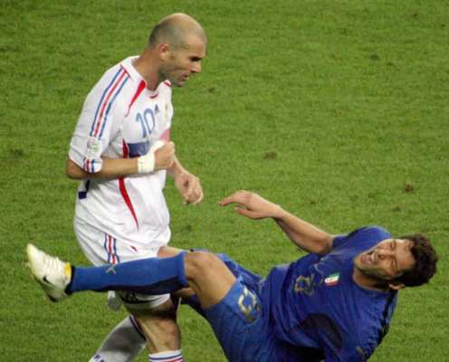 Anatomy of a Headbutt: OTD in 2006 Zinedine Zidane Was Sent Off in the World Cup Final