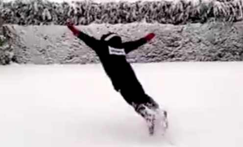 The best of Spain's footballers reacting to snowstorm Filomena