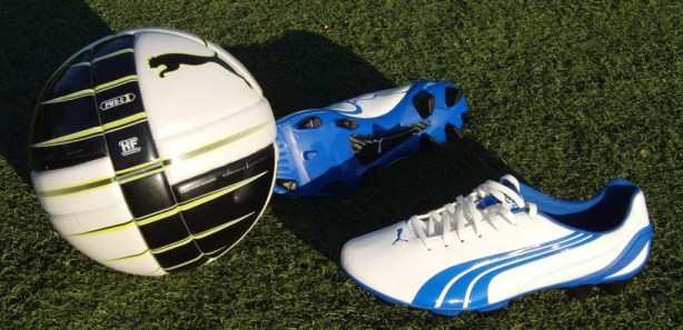 Puma ball and cleats