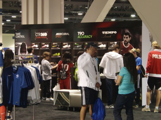 Nike Stand at Soccer Nation Expo
