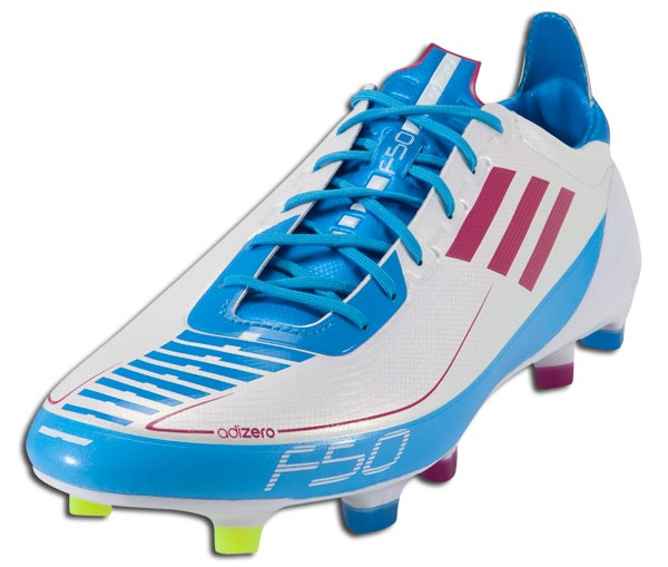 adidas F50 adizero Indoor Soccer Shoes White Pink Cyan