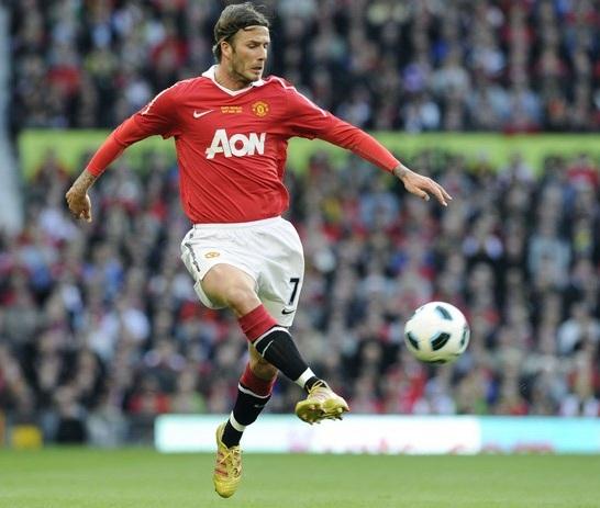 David Beckham sported ...