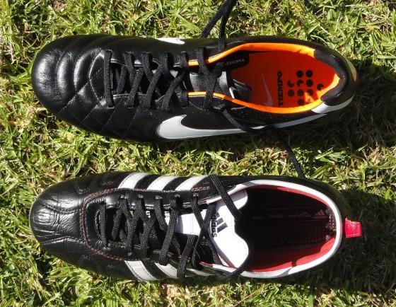 Adidas adiPure vs Nike Tiempo
