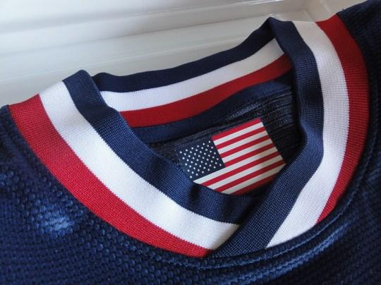 US Jersey neck design