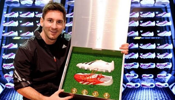Messi with adiZero