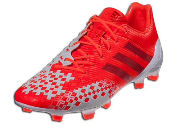 Red and White Adidas Predator LZ SL