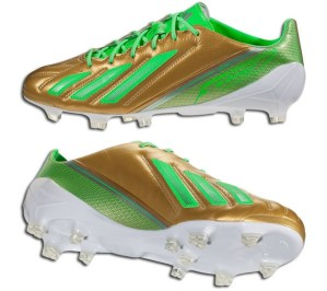 Adidas F50 adiZero Gold Green