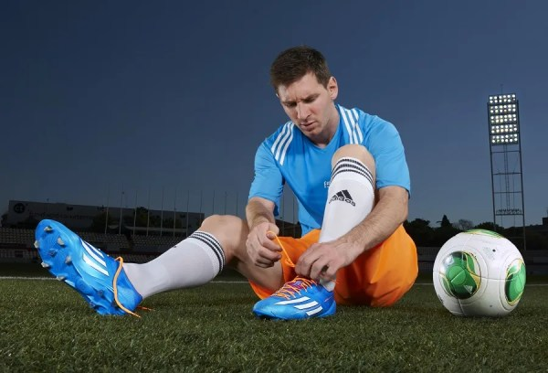 Messi in new F50 adiZero