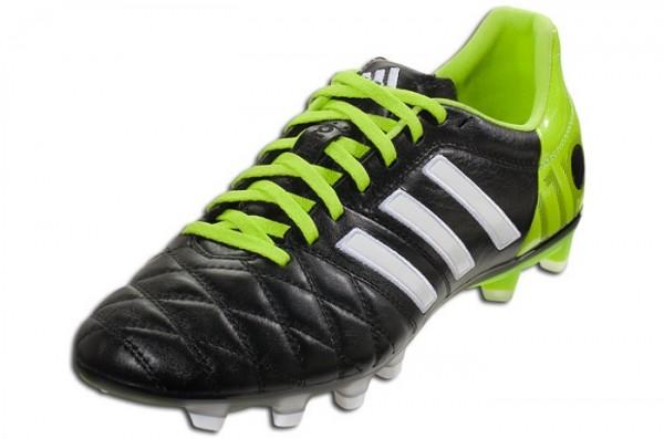 pantalla Contestar el teléfono fibra  Adidas adiPure 11Pro - Black/Running White/Solar Slime | Soccer Cleats 101