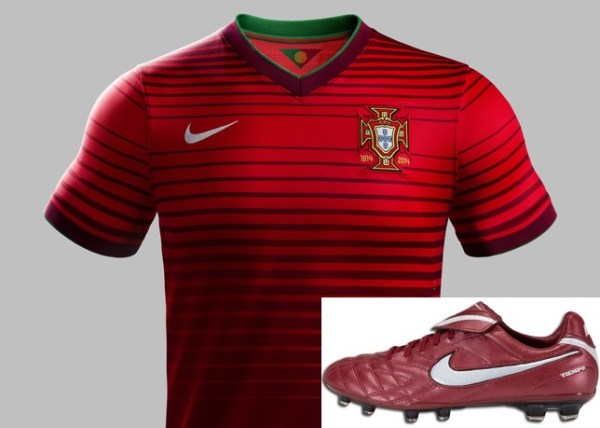 tiempo legend iii with portugal home kit