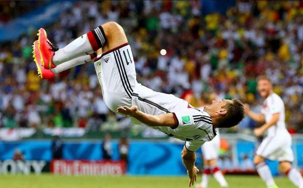 Klose Celebrates Goal