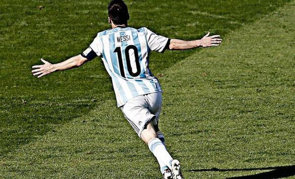 Messi Celebrates Goal