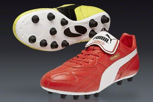 puma yellow and red boots