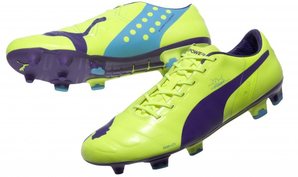 puma evoPOWER 1 yellow purple