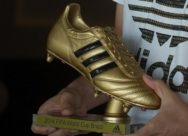 Golden Boot in Hand