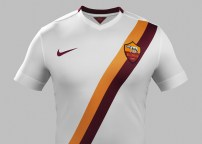 In Nike's first year for Roma, they've done a great job with the away sash.