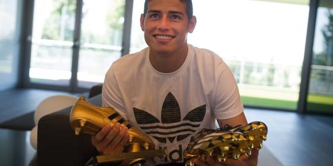 adidas award James Rodriguez the Golden Boot