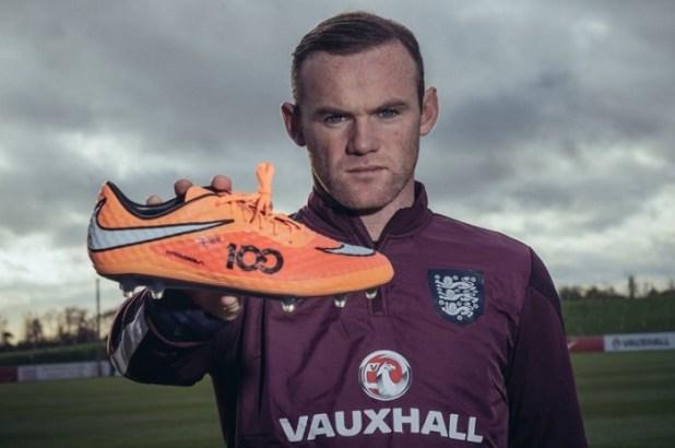Rooney 100 cap Hypervenom