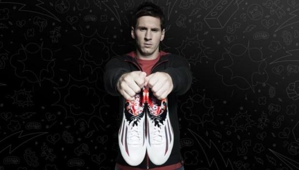 Messi with New adiZero