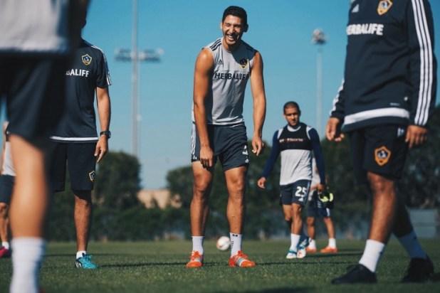 Omar Gonzalez LA Galazy Training