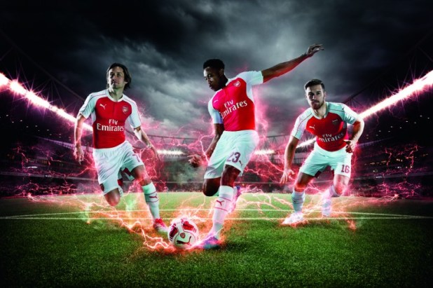 PUMA Launches the 2015-16 Arsenal Home Kit