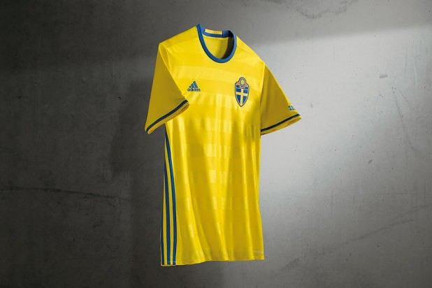 Sweden Euro 2016 Home Kit