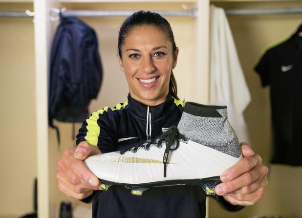 Carli Lloyd with Superfly