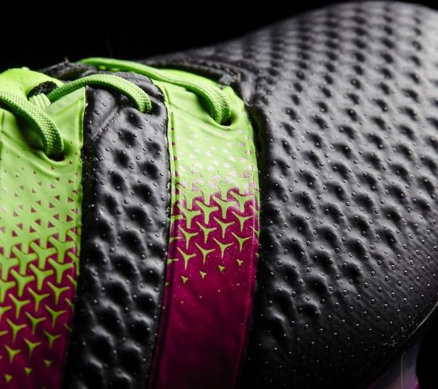 Black Shock Pink Ace16 Primeknit Detailing