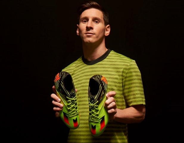 Messi with new Messi15 Solar Slime