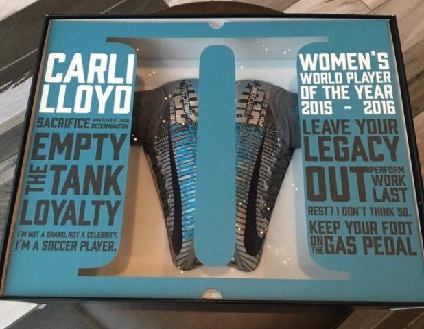 Carli Lloyd Ballon d'Or Boots