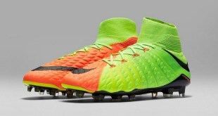 Nike Youth Hypervenom Phantom III Dynamic Fit Fg - Electric Green / Hyper Orange / Black