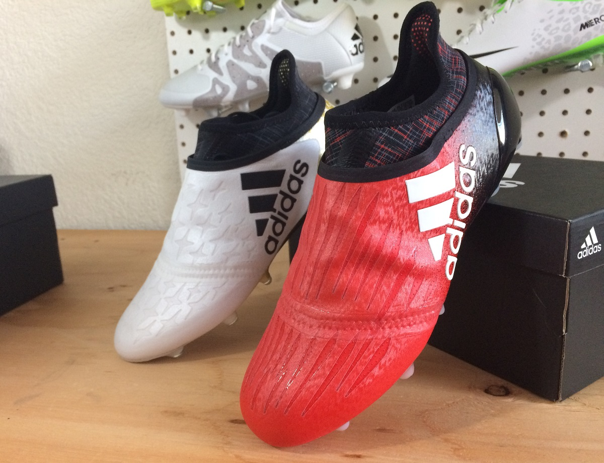 up close adidas x16 purechaos red limit soccer. Black Bedroom Furniture Sets. Home Design Ideas