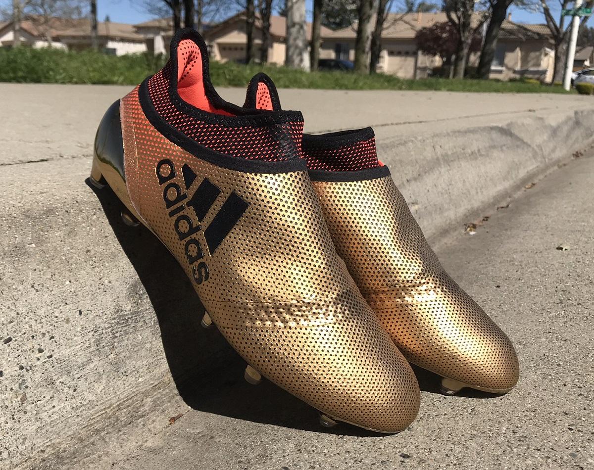 best cheap c46b8 e3085 Gold PURESPEED Detailed | Soccer Cleats 101