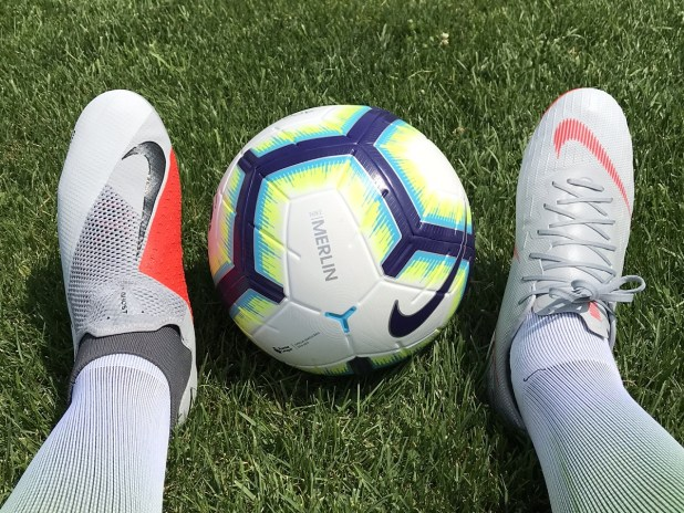 Nike Merlin Match Ball and Nike Boots
