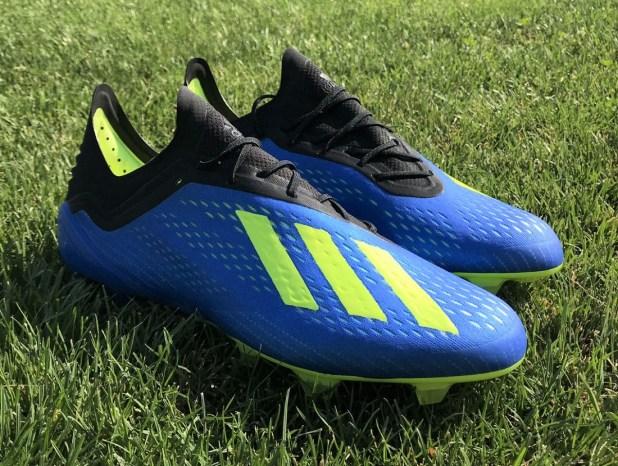 Blue adidas X18.1