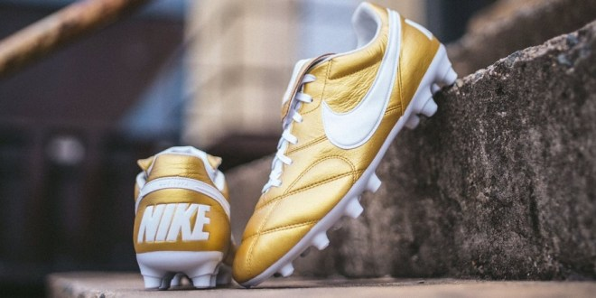 "Nike Drop Ronaldinho Inspired Premier II in ""Metallic Gold"""