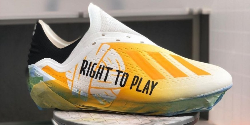 "509ba4075eb0 Nathan Redmond Wears Custom ""Right To Play"" X18.1"