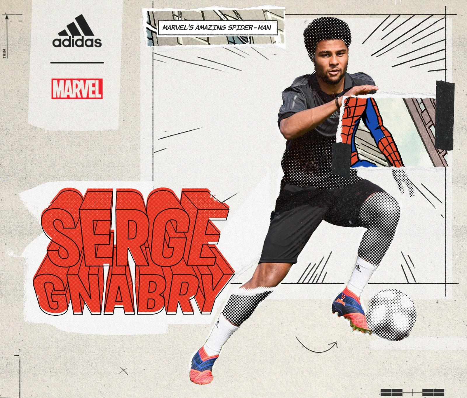 Hasil gambar untuk adidas marvel Serge Gnabry