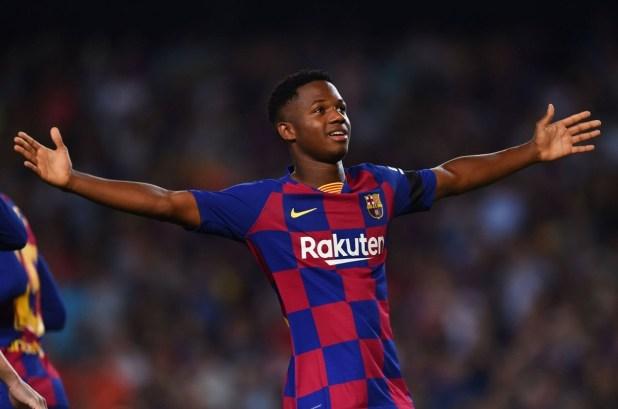 Ansu Fati Scores For Barca