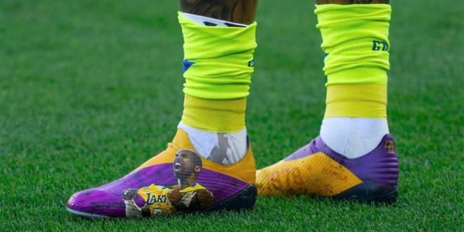 Kenedy Wearing Kobe Bryant Boots