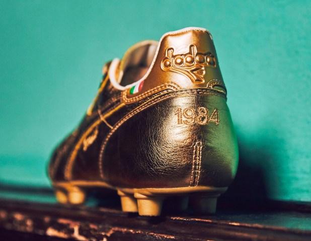 Gold Diadora Brasil 1984 Heel