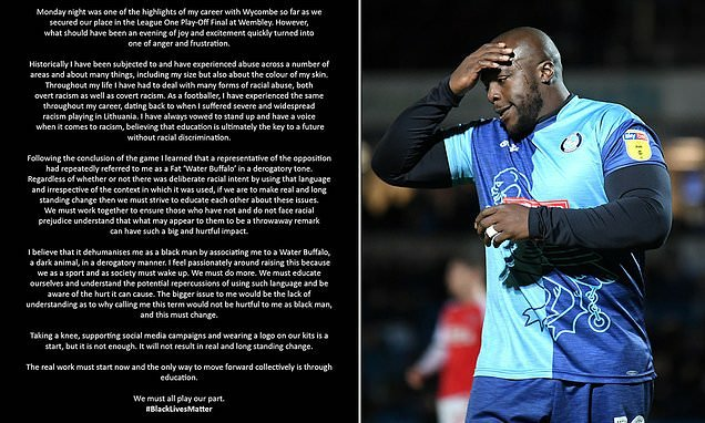 Akinfenwa angered after he insists he was called a 'fat water buffalo