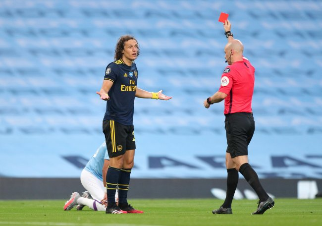 David Luiz sees red, City trashed Arsenal in premier league retu havern