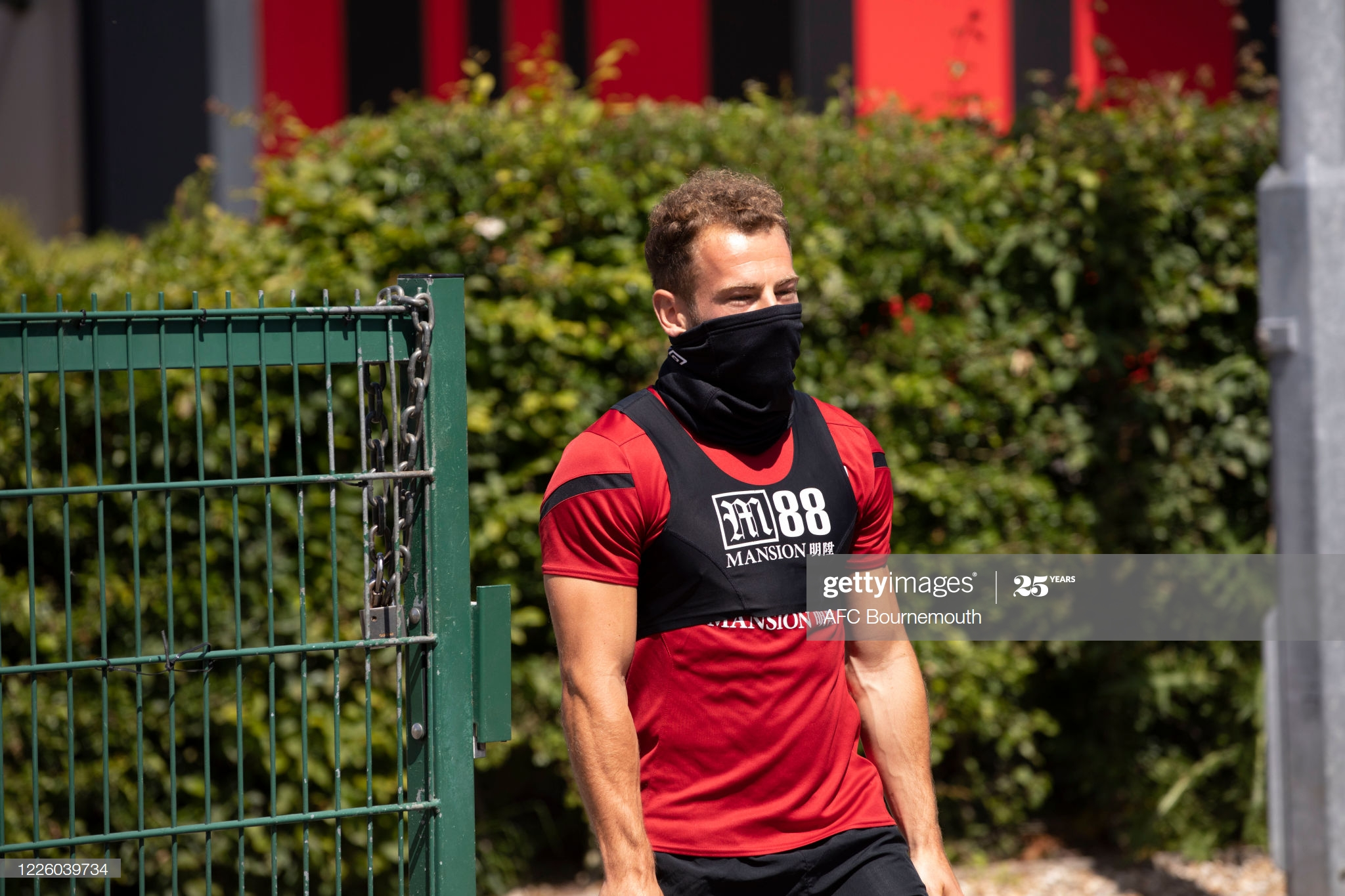 BOURNEMOUTH, ENGLAND - MAY 20: Ryan Fraser of AFC Bournemouth arrives for training after Covid-19 restrictions were relaxed at Vitality Stadium on May 20, 2020 in Bournemouth, England. (Photo by AFC Bournemouth/AFC Bournemouth via Getty Images)