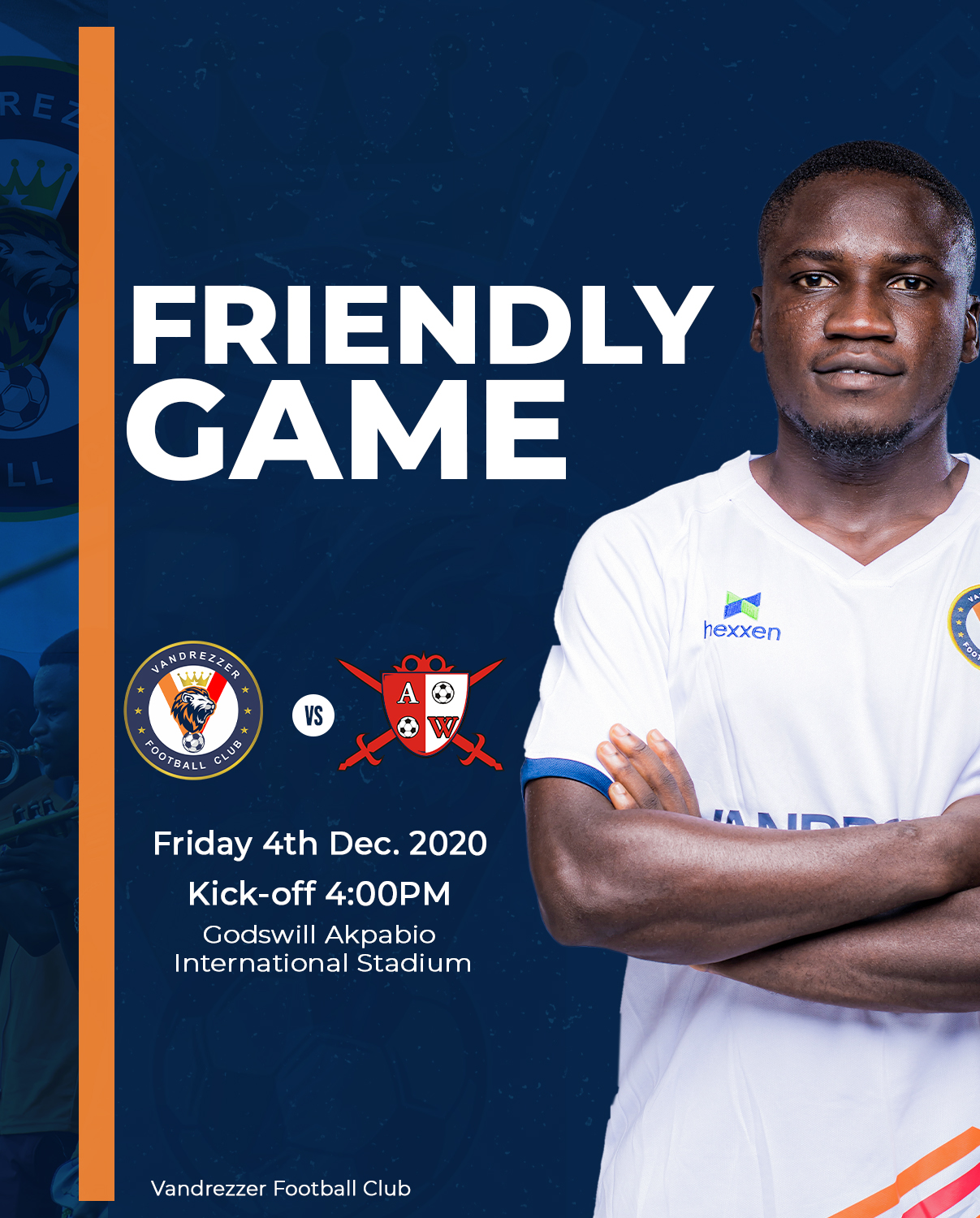 Club Friendly: Vandrezzer to host Abia Warriors, watch live